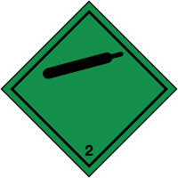 Hazard Warning Label for Gas Bottle Transportation