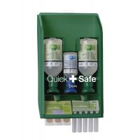Quicksafe Wall-Mounted First Aid Kit with Eye Wash