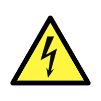 Beware Electricity Hazard Labels on a Roll