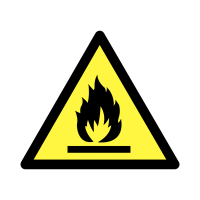 Flammable Material Hazard Symbol Self-Adhesive Eco-Friendly Labels On A Roll