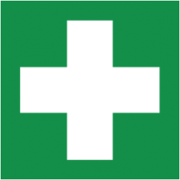 Self-adhesive first aid eco-friendly safety labels