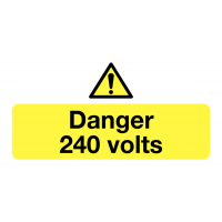 Long Lasting Danger 240 Volts - Eco-Friendly Safety Labels On-a-Roll