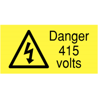 Polypropylene Danger 415 Volts Eco-Friendly Safety Labels On-a-Roll