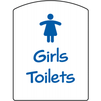 Ideal plastic girls toilets sign