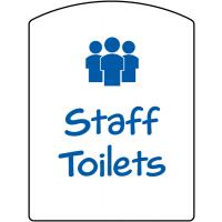School Staff Toilet Sign