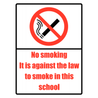Highly Visible No Smoking In This School Sign