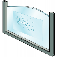 Temporary window repair film