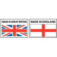 Self adhesive made in Great Britain label