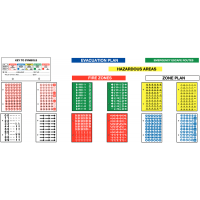 Extra symbols sheet for emergency escape route plan packs