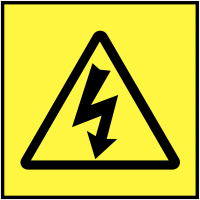 Self-Adhesive Electricity Symbol On-The-Spot Safety Labels