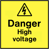 Durable Vinyl Danger High Voltage On-The-Spot Labels