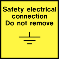 On-The-Spot Safety Labels - Safety Electrical Connection Do Not Move