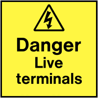 Easy To Apply Danger Live Terminals On-The-Spot Labels