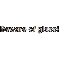 Stylish Frosted Glass Warning Window Sticker