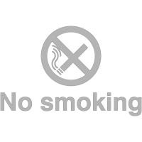No Smoking sign self-adhesive window graphic (Monochrome)