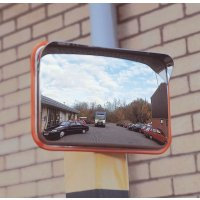 Vandal-proof mirrors to assist with traffic safety and visibility