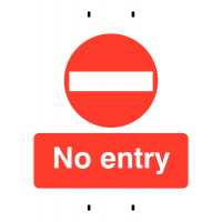 Temporary Post-Mounted Signs – No Entry
