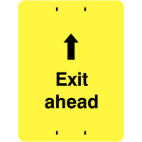 High Visibility 'Exit Ahead' Sign