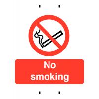 Temporary Polypropylene 'No Smoking' Sign for Post-Mounting