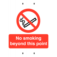Temporary Post-Mounted Sign – No Smoking Beyond This Point