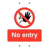 Reusable Polypropylene 'No Entry' Safety Signs