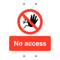 No Access Temporary Post-Mounted Signs