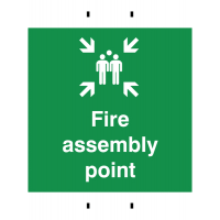 Fire Assembly Point' Temporary Reusable Post-Mounted Signs