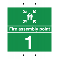 Durable Fire Assembly Sign – Point 1