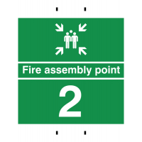 Durable Fire Assembly Sign – Point 2