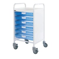 Vista Medical Storage Trolley with 6 Removable Trays