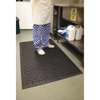 Slip-resistant kitchen safety mat