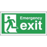 Self-Adhesive Running Man Emergency Exit Signs