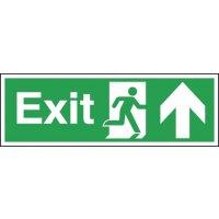 Upwards Arrow Emergency Exit Sign