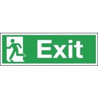 Self-Adhesive Exit Running Man Sign
