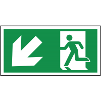 Running Man Exit Signs (Arrow Left & Down)