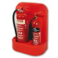 Durable Single or Double Moulded Plastic Fire Extinguisher Stand