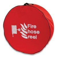 High visibility fire hose reel covers