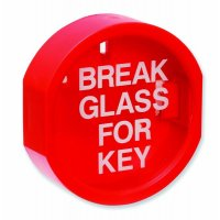 Plastic-Fronted Emergency 'Break Glass For Key' Wall-Mounted Box