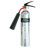 Deluxe polished chrome effect CO2 fire extinguisher