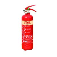 Compact space-saving foam fire extinguisher
