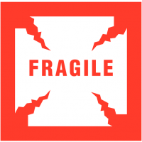 Self-Adhesive 'Fragile' Packaging Warning Labels