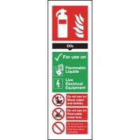 Colour-Coded Fire Extinguisher Signs - CO2