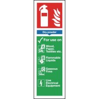 Self-Adhesive Dry Powder Fire Extinguisher Uses Sign