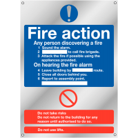 Compliant Deluxe Fire Action Standard Signs