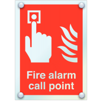 Safety Compliant Fire Alarm Call Point Acrylic Signs