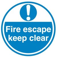 Floor adhesive anti-slip fire escape keep clear signage