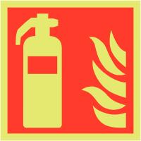 Xtra-Glo fire extinguisher locator sign