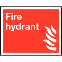 Safety Compliant Fire Hydrant Equipment Sign