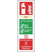 Colour-Coded Fire Extinguisher Signs - Foam