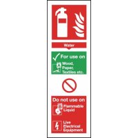 Self-adhesive Instruction Sign for Water Fire Extinguisher